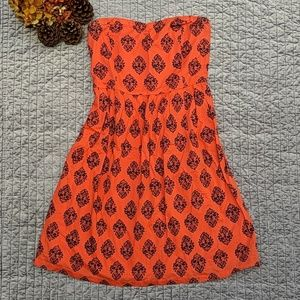 🎃 Old Navy Popping Orange and Navy Dress